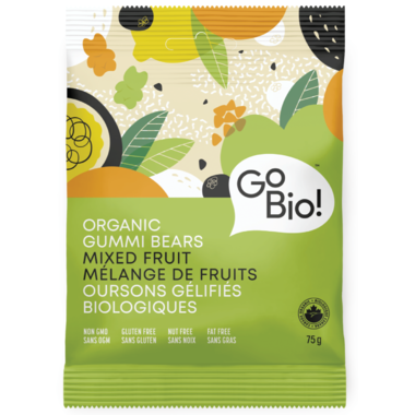 GoBio Organic Mixed Fruit Gummi Bears