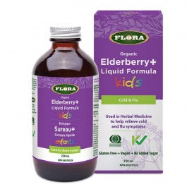 Flora Elderberry Liquid Kids 250mL