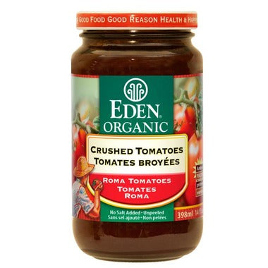 Eden Organic Crushed Roma Tomatoes, No salt added