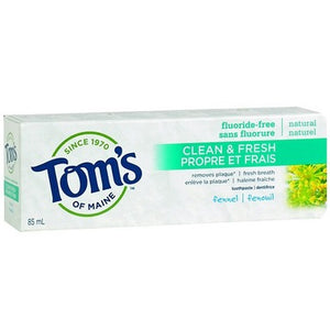 Tom's of Maine Clean & Fresh Fluoride-Free Toothpaste fennel 85 mL