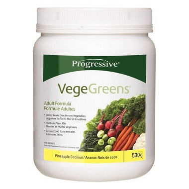 Progressive VegeGreens Green Food Supplement Pineapple Coconut 530g