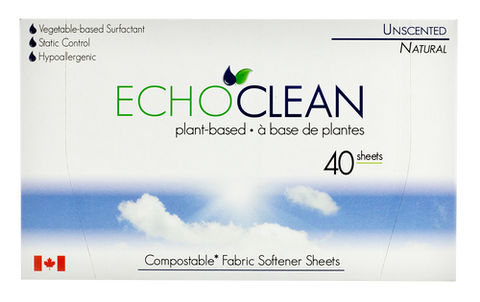 Echo Clean Unscented Fabric Softener Sheets
