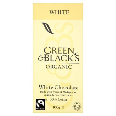 Green & Black's Organic - Organic Fairtrade White Chocolate, 100g