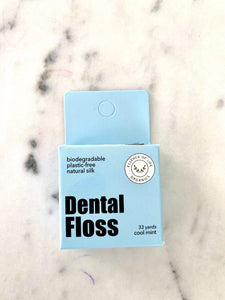 Biodegradable Zero Waste Silk Floss, cool mint