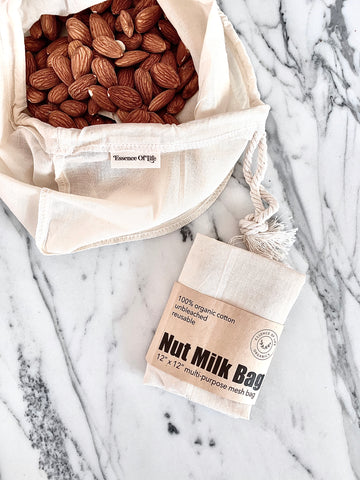 100% organic cotton nut milk bag