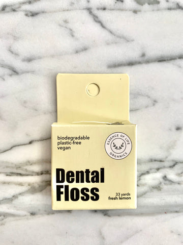 Biodegradable, 100% Plant-based  Dental Floss, fresh lemon