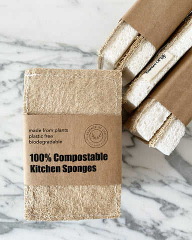 100% Compostable Kitchen Sponges, 2 pack
