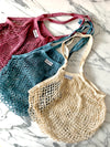 French Market Tote: 100% Cotton Long-handled Mesh String Bag