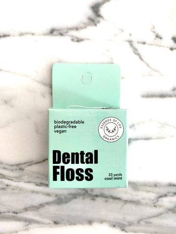 Biodegradable, 100% Plant-Based Dental Floss, cool mint