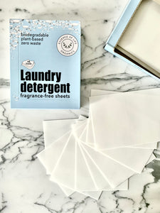 Zero Waste Laundry Detergent Strips, fragrance-free