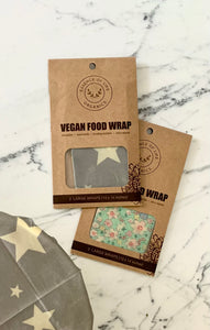 100% compostable Vegan Food Wraps, 2 Large Wraps