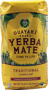 Guayaki Yerba Mate Tea Traditional Loose Leaf 454 g