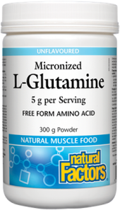 Natural Factors Micronized L-Glutamine 5g per Serving 300g