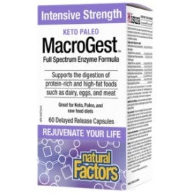 Natural Factors MacroGest Keto Paleo 60 Capsules