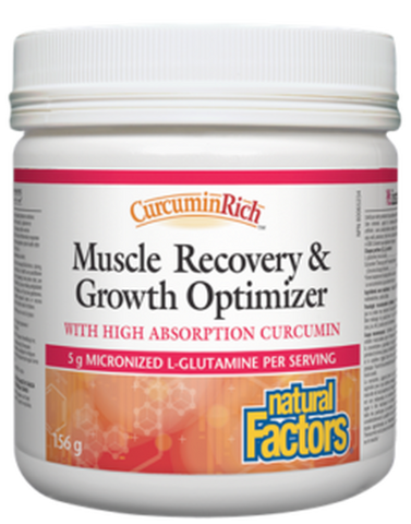Natural Factors CurcuminRich Muscle Recovery and Growth Optimizer