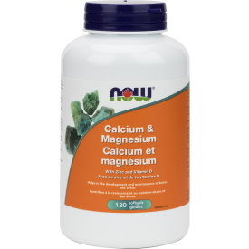 NOW Cal-Mag with Vitamin D 120 Softgels