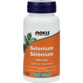 NOW Selenium 200mcg 90 Veggie Caps
