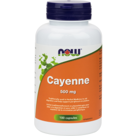 NOW Cayenne 500mg 100 Capsules