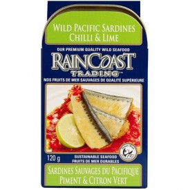 Rain Coast Pacific Sardines Chili & Lime 120g