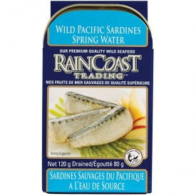 Rain Coast Pacific Sardine in Spring Water 120g