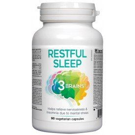 3 Brains Restful Sleep 90 Veggie Caps