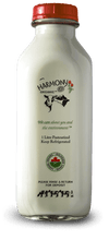 Harmony Organic 3.8% Whole Milk One Litre Glass Bottle