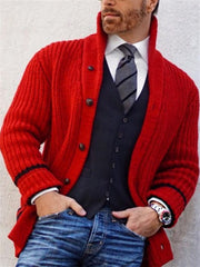 Red Casual Cotton Solid Outerwear