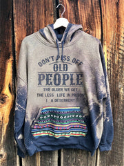 Printed Hoodie Cotton-Blend Sweatshirt