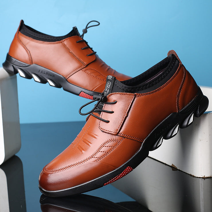 Men Leather Non-slip Casual Shoes