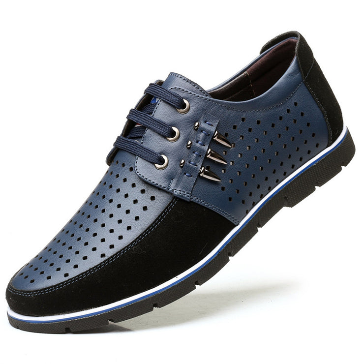 Men Large Size Non-slip Leather Split Joint Casual Shoes