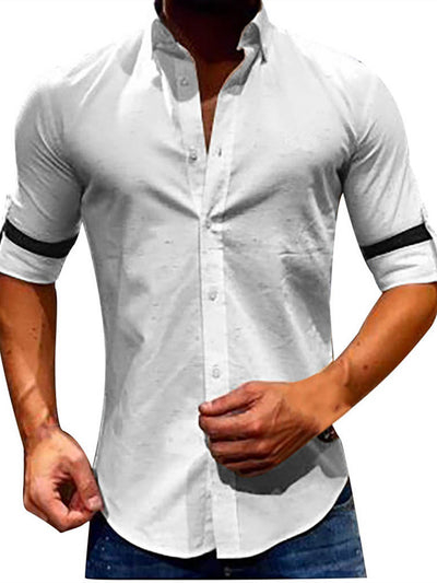 Basic Paneled Cotton Shirts & Tops