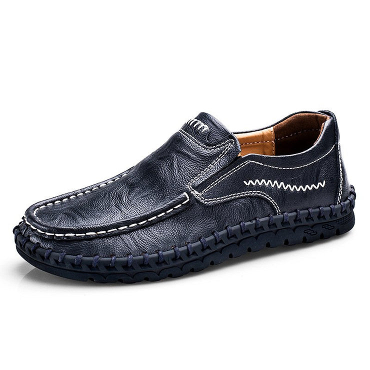 Men Large Size Leather Office & Career Casual Shoes