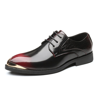 Men Large Size Carved Genuine Leather Non-slip Brogue Casual Formal Shoes