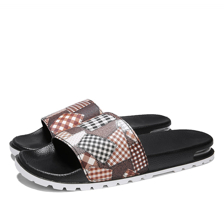 Men Hollow Out Slide Sandals Comfy Beach Water Slippers