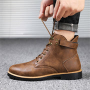 Vintage Leatherette Boots For man