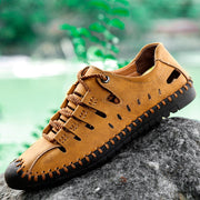 Men Non-slip Lace-up Leather Sandals