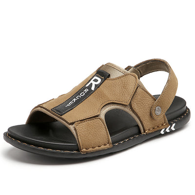 Men Genuine Leather Comfortable Casual Sandals