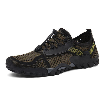 Men Lycra Mesh Breathable Outdoor Shock Absorption Hiking Shoes