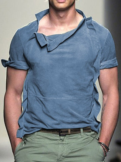 Men Casual Plain Tops