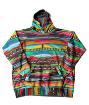 Multicolor Cotton-Blend Striped Casual Hoodie Sweatshirt