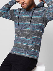 Casual Striped Boho Hoodie Sweatshirt