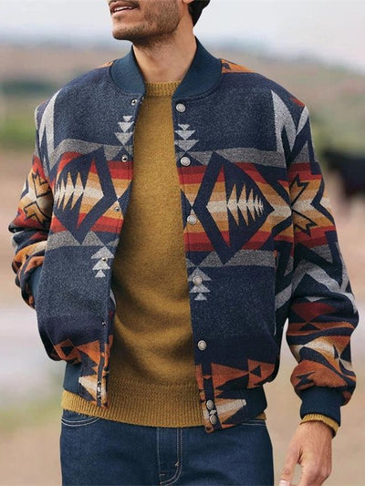 Bomber Jacket Printed Tribal Vintage Jackets