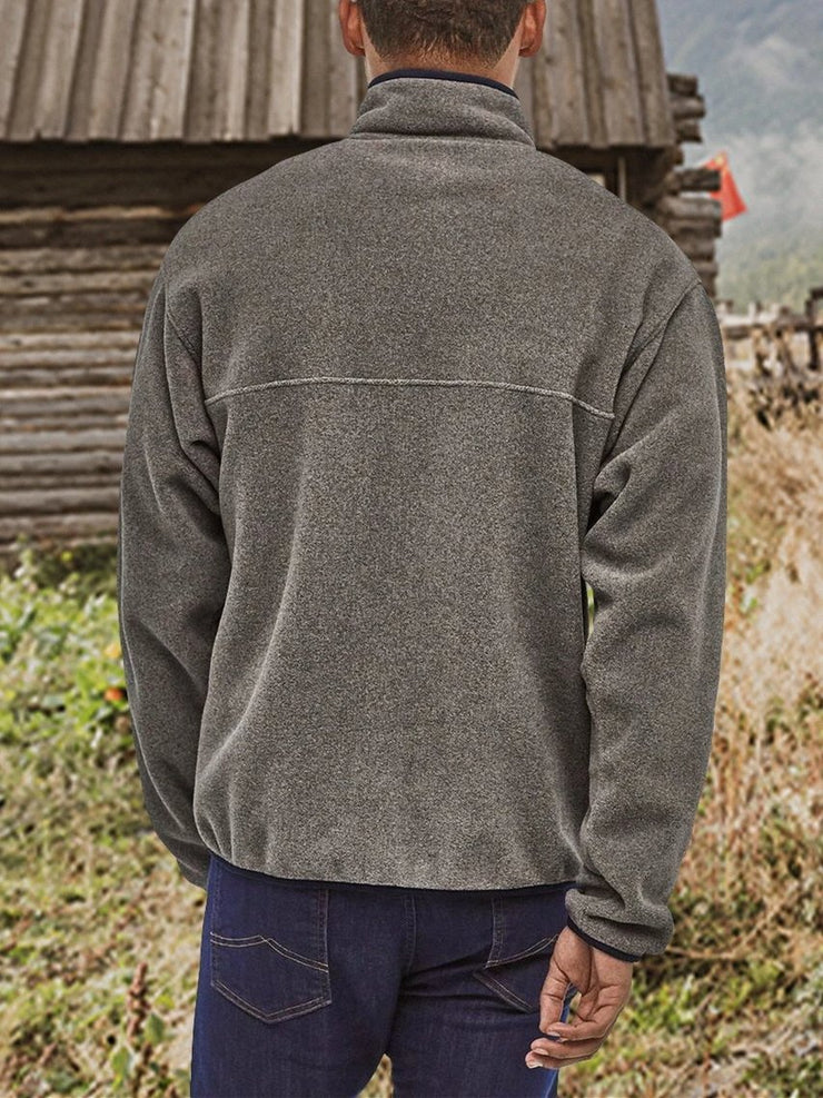 Gray Vintage Paneled Sweatshirt