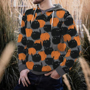 Halloween Hoodie Cotton-Blend Casual Sweatshirt