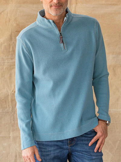 Blue Cotton Casual Sweatshirt