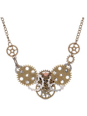 European and American popular steampunk gear type necklace