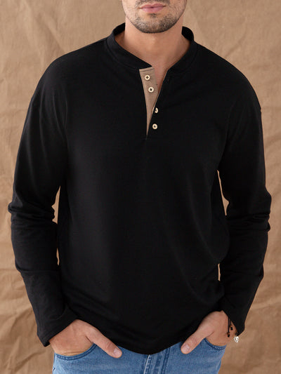 Navy Blue Casual Plain Paneled Crew Neck Shirts & Tops