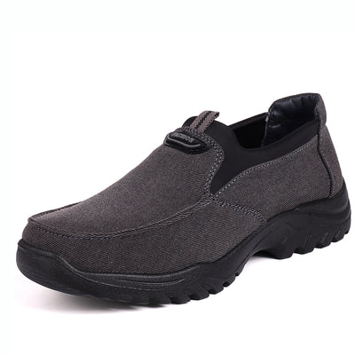 Men Knitted Fabric Slip On Soft Sport Casual Running Sneakers