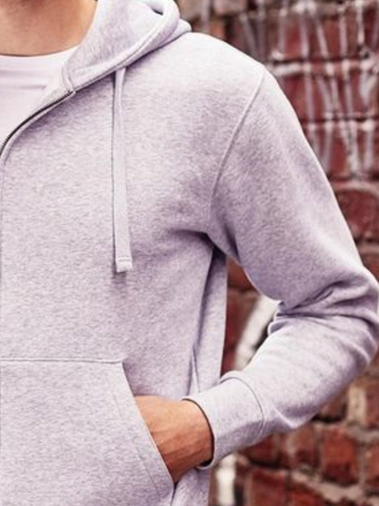 Light Gray Hoodie Cotton Casual Sweatshirt