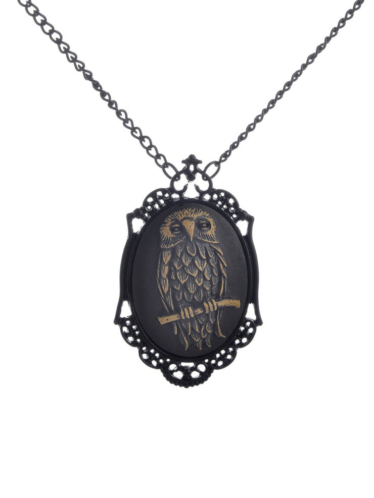 European and American Owl Pendant Long Chain